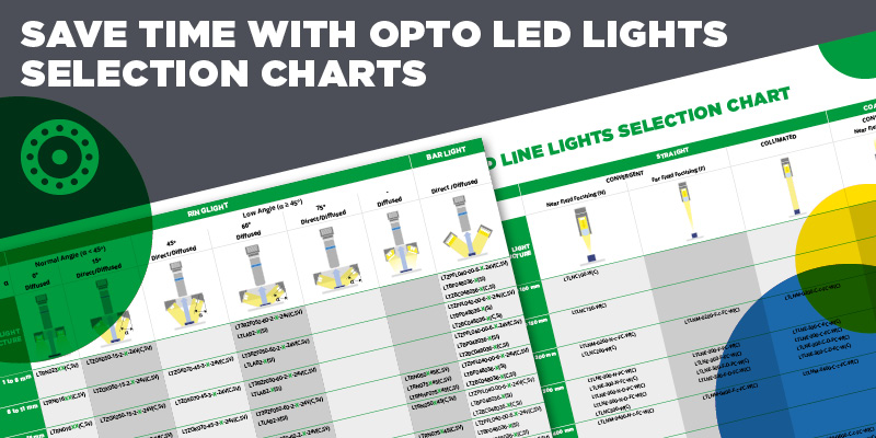 Save time with Opto LED Lights selection charts