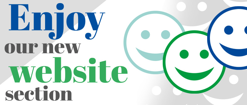 Enjoy our new website section