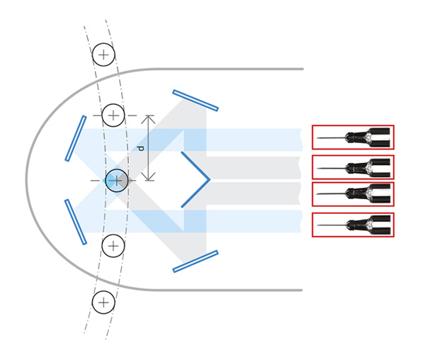 Optical principle of the TCCAGE lenses