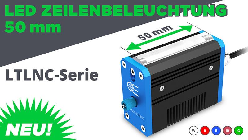 Neu: Led Zeilenbeleuchtung 50 mm – LTNC series